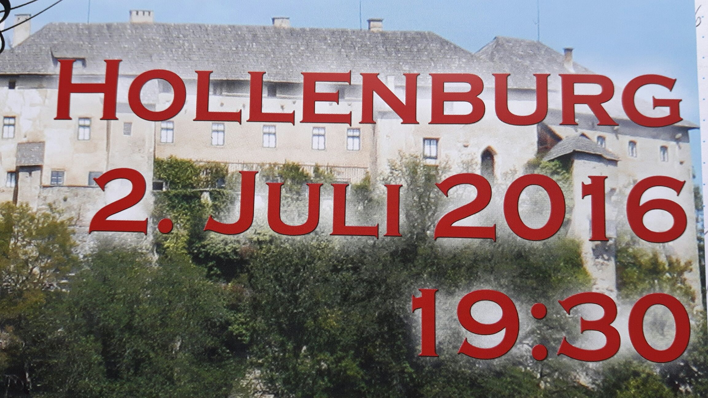 02.07.2016 - Burghofsingen Hollenburg um 19:30 Uhr