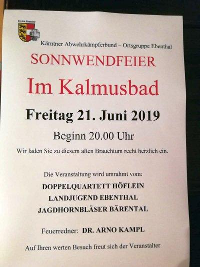 21.06.2019 - Sonnwendfeier im Kalmusbad